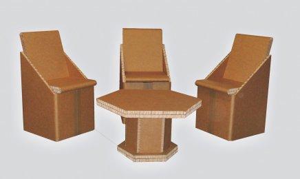 Mobilier en carton mon quotidien autrement - Mobilier carton recycle ...