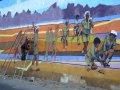 Peinture murale patriotique en Erythrée Crédits David Stanley