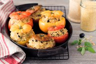 tomates farcies vegan - DR Mon Quotidien Autrement - E. Montuclard