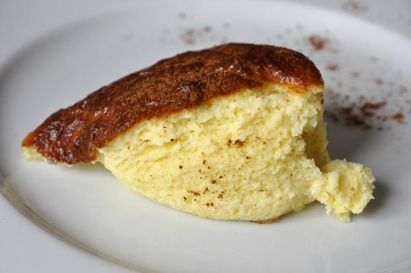 L'omelette soufflée au bleu