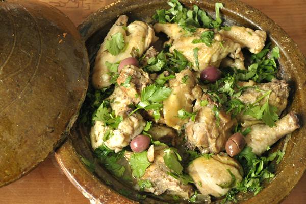 Tajine de poulet aux citrons et olives