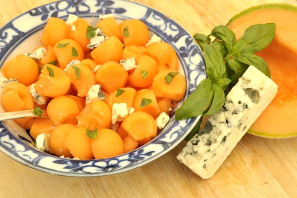 Salade de melon au Roquefort