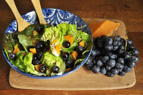 Salade muscat - mimolette vieille