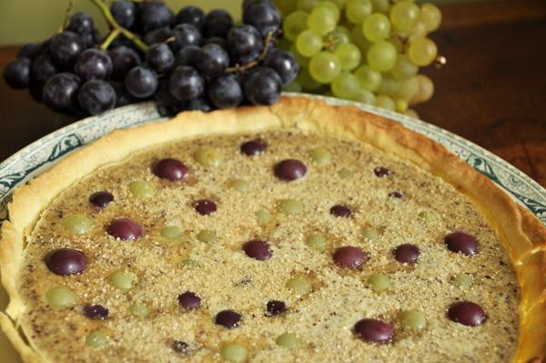 Tarte raisins - noisettes