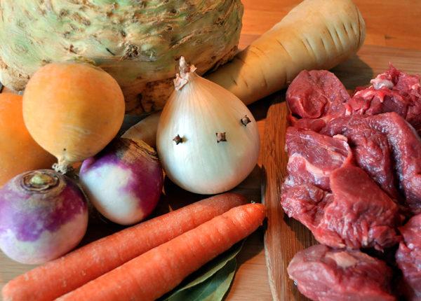 Bœuf mijoté aux légumes-racines