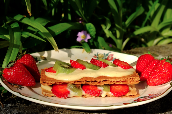 Mille-feuille fraise-kiwi
