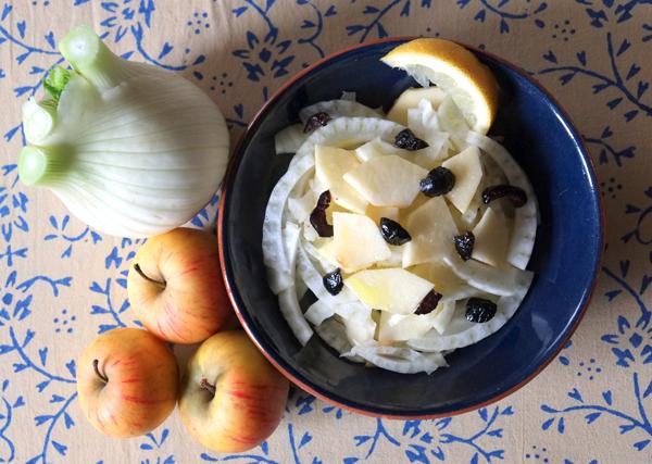 Salade de fenouil et pommes au miel