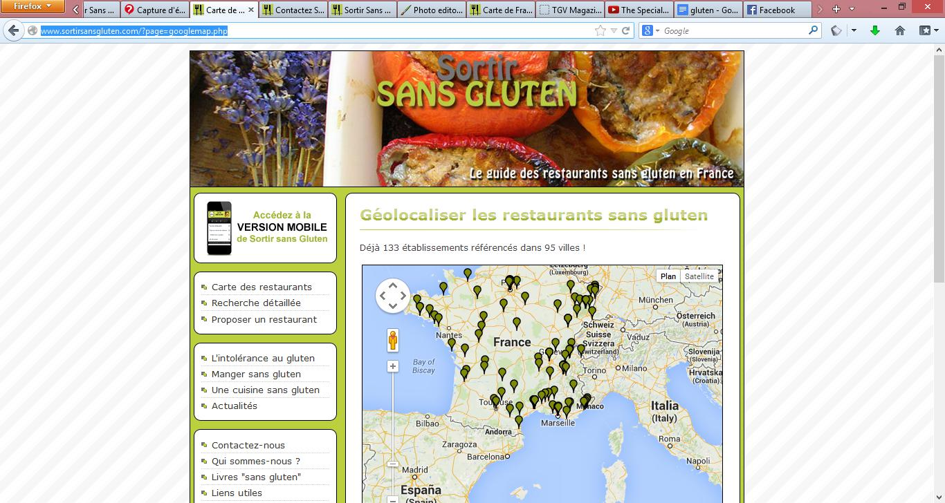 "Sortir Sans Gluten, un site participatif qui recense les restaurants ""no gluten"""