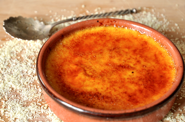 Crème brûlée à l'huile essentielle de bergamote
