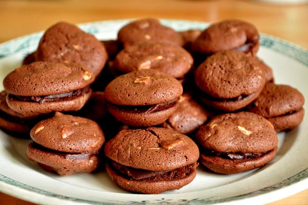 Macarons chocolat-gingembre
