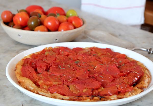 Tarte-tatin à la tomate