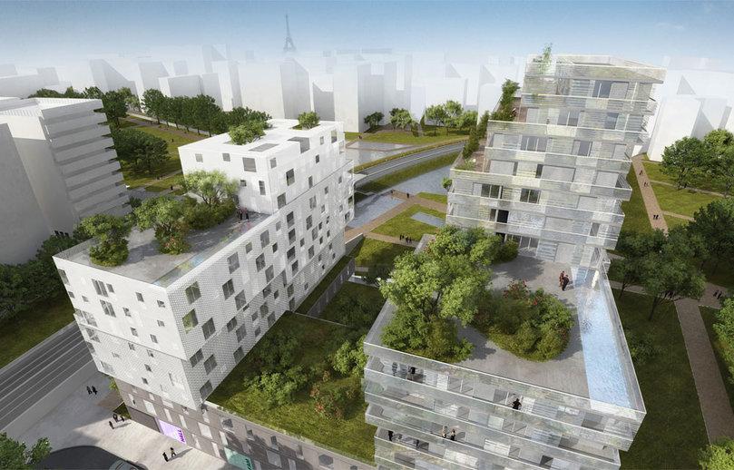 Un éco quartier prend vie à Paris