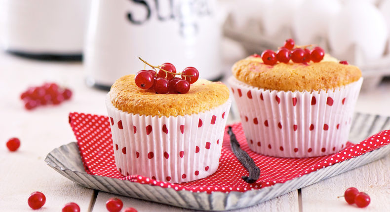 Muffins à la vanille et aux groseilles
