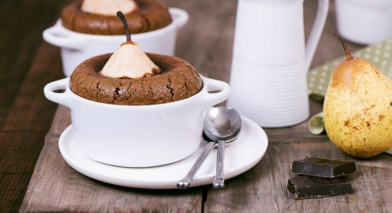 Fondant au chocolat et aux poires (sans gluten)
