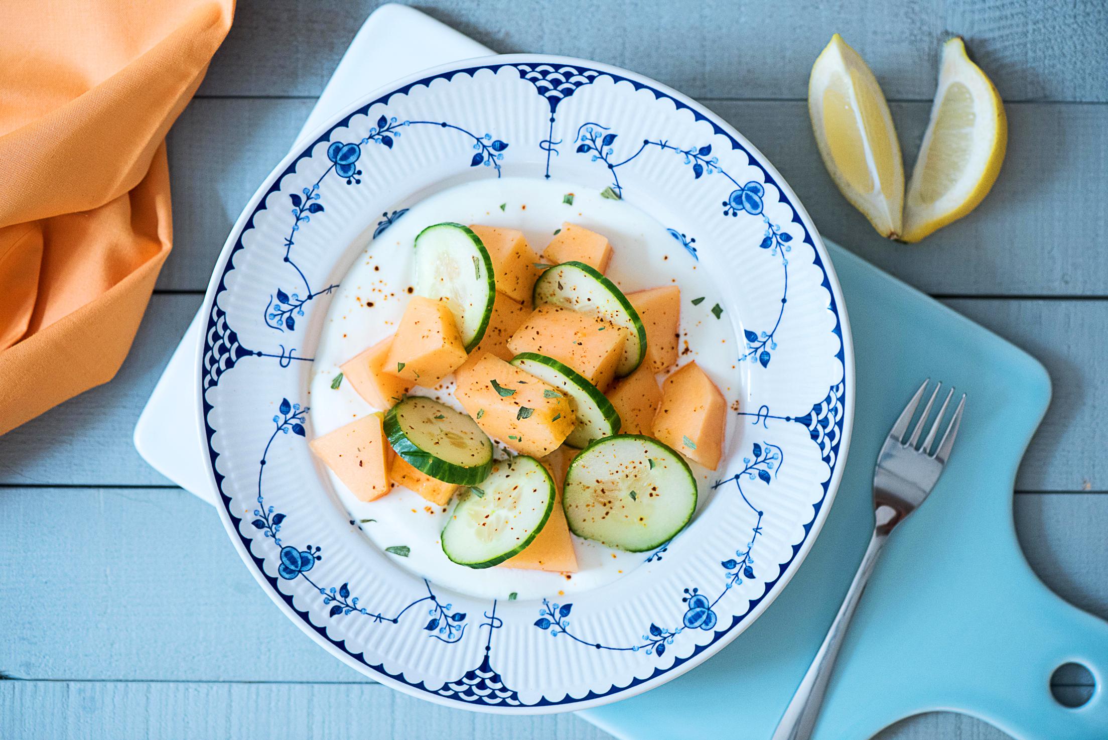 Salade de melon et concombre