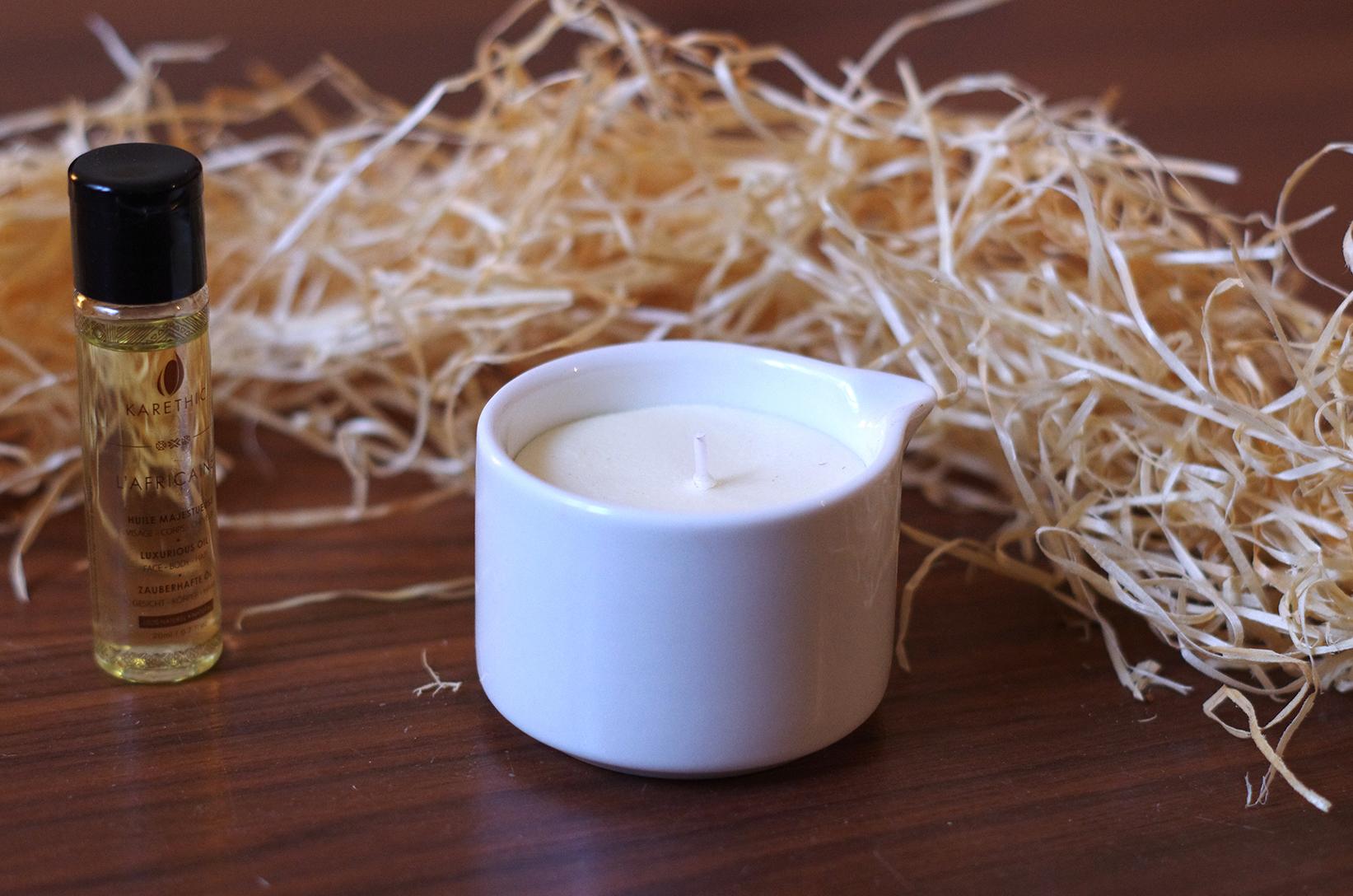 la bougie de massage karethic naturelle bio thique mon quotidien autrement. Black Bedroom Furniture Sets. Home Design Ideas