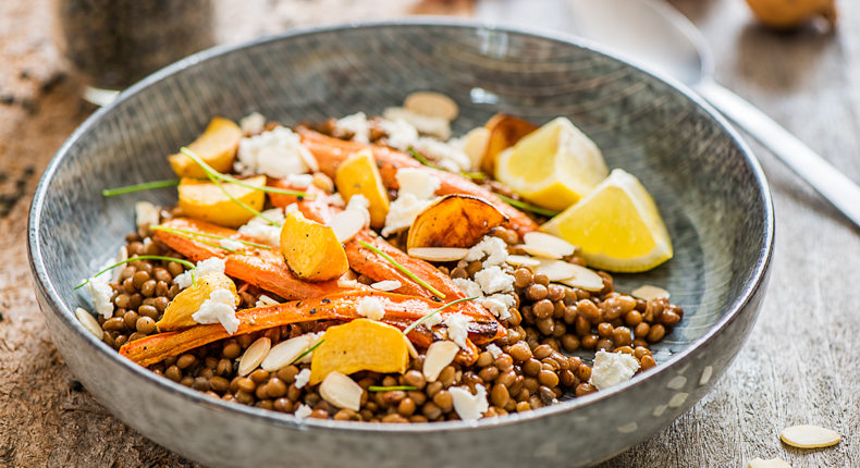 Salade de lentilles, feta, carottes et navets - DR Mon Quotidien Autrement - E. Montuclard