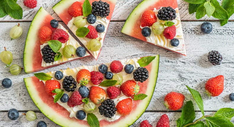 Pizza pastèque aux fruits - DR. Mon Quotidien Autrement - E. Montuclard