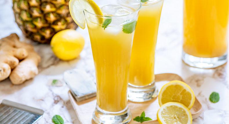 Thé vert glacé au citron, gingembre et à l'ananas - DR Mon Quotidien Autrement - E. Montuclard