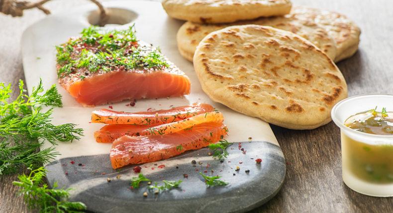Gravlax de saumon et pain polaire - DR Mon Quotidien Autrement - E. Montuclard