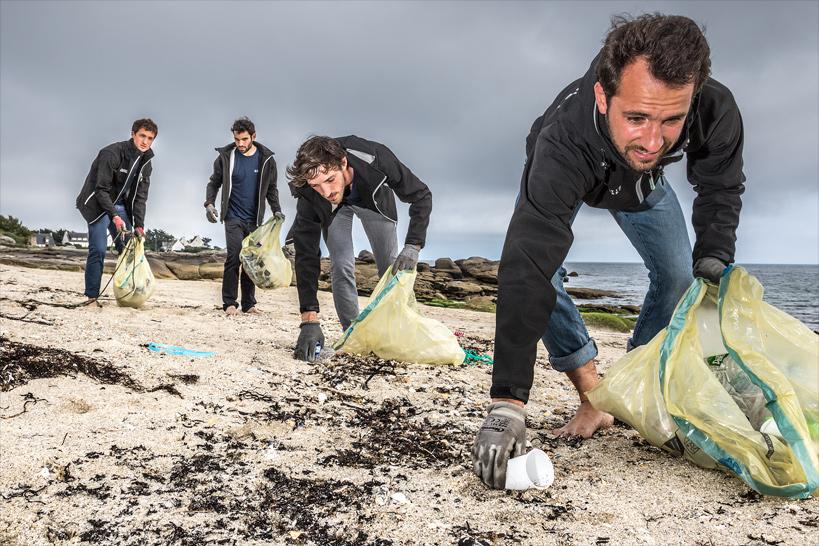 Benjamin de Molliens, Alexandre Dechelotte, Bob Vrignaud et Simon Bernard partiront en 2020 pour un tour du monde de trois ans. © Lucas Santucci