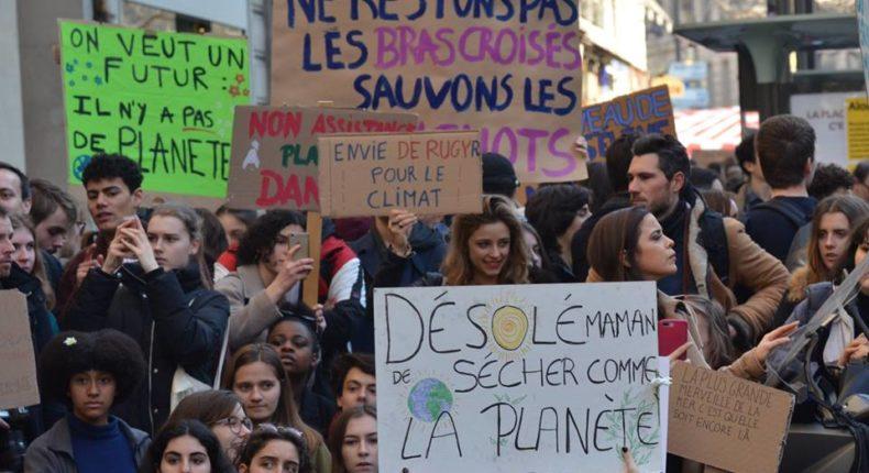 greve scolaire jeune climat -