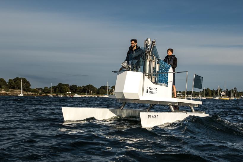 Pour tester le système de plastique-carburant en conditions réelles, Plastic Odyssey aconstruit un bateau démonstrateur long de 6 mètres. © Lucas Santucci