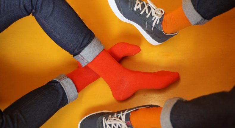 Les chaussettes multicolores d'Archiduchesse.