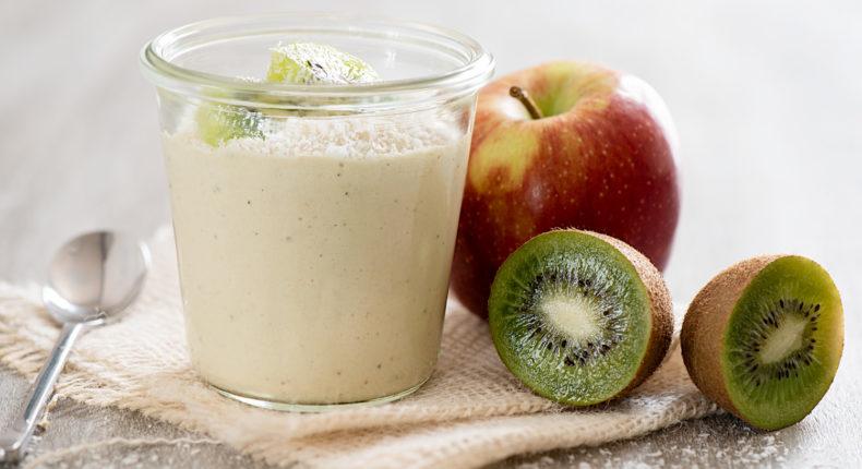 Crème végétale à la pomme et au kiwi - DR Mon Quotidien Autrement - E. Montuclard