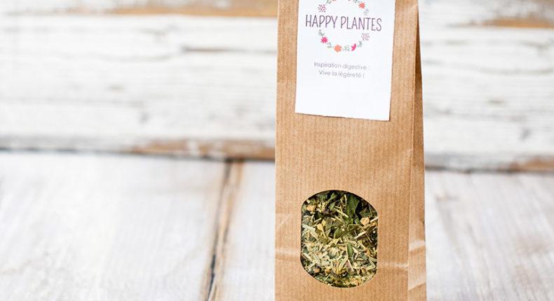 Happy Plantes propose des tisanes digestives, apaisantes ou toniques.