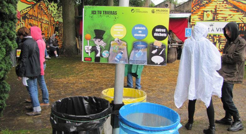 Le festival du Cabaret Vert à Charleville-Mézières (Ardennes) a notamment engagé une politique de développement durable. DR