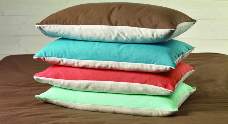Les oreillers en coton bio de Futaine.