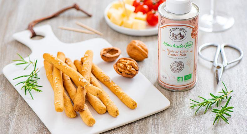 Gressins aux noix, romarin et huile fruitée noix bio - DR Mon Quotidien Autrement - E. Montuclard