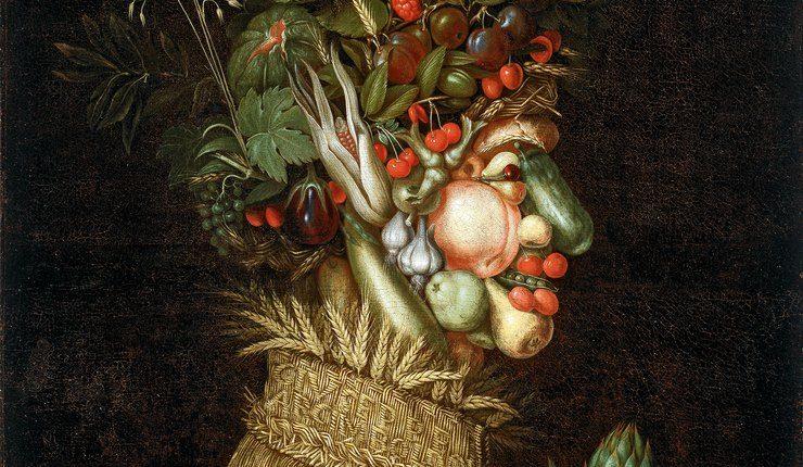 Guiseppe Arcimboldo a réalisé de nombreux portraits à base de légumes et plantes.