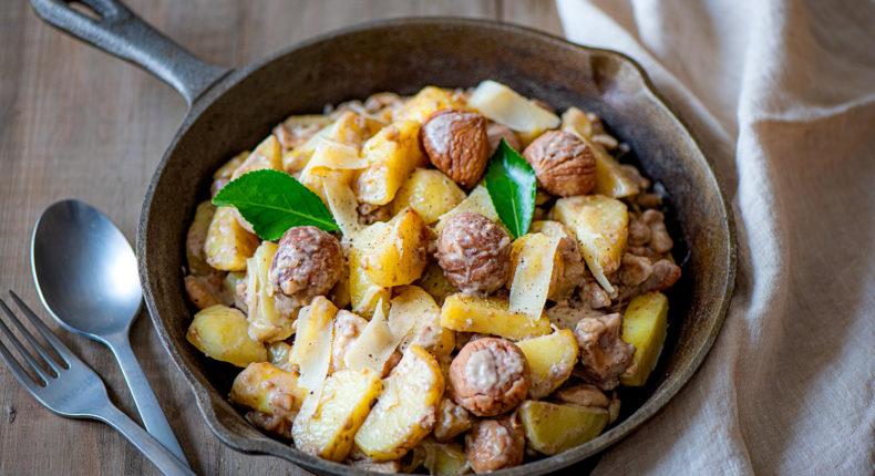 Truffade de pommes de terre et châtaignes - DR. Mon Quotidien Autrement - E. Montuclard