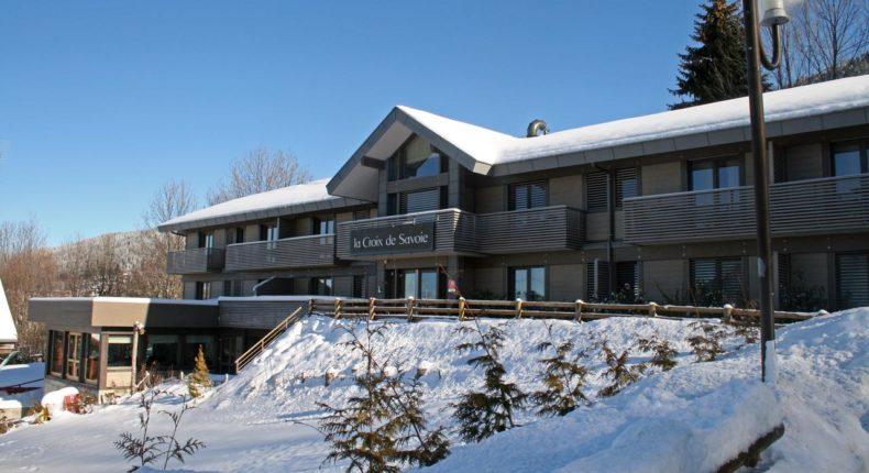 La Croix de Savoie, hôtel bioclimatique, au Carroz.