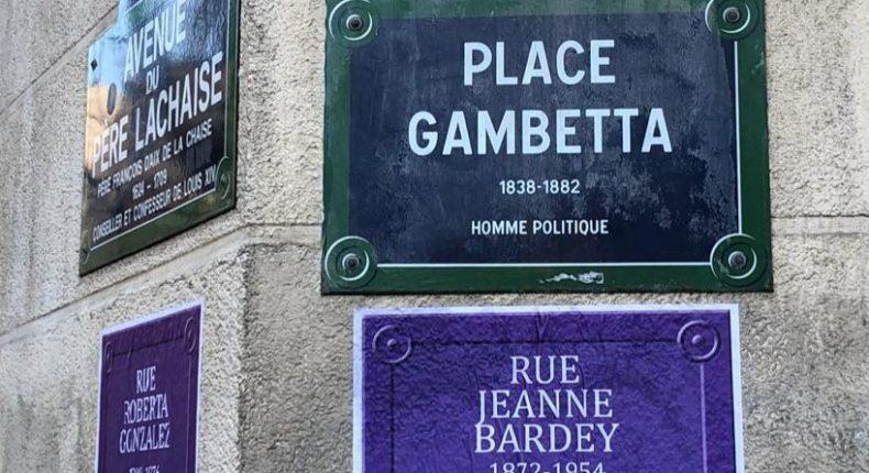 Le collectif Nous toutes a rebaptisé les rues parisiennes en 2019.