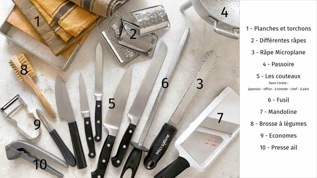 Les ustensiles indispensables pour préparer fruits et légumes avant de les cuisiner - ©E. Montuclard